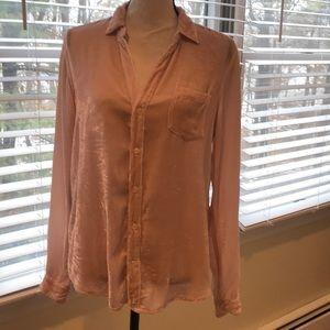 Ladies velvet button down blouse